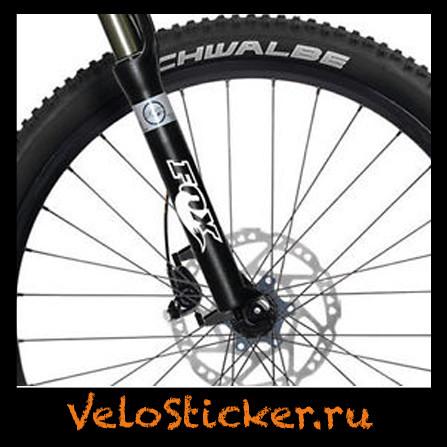 Виниловая наклейка FOX на штаны вилки горного велосипеда