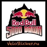 Наклейка на фулфэйс red bull 5000 down