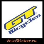Купить наклейку на велосипед GT bicycle