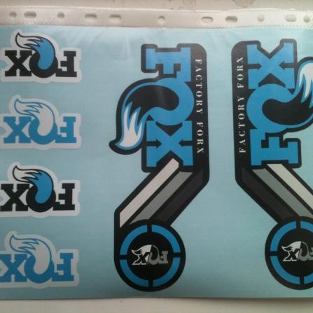 Комплект наклеек FOX heritage 2015 года голубого цвета