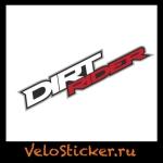 Купить виниловую Наклейку dirtrider на раму велосипеда