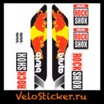 Наклейка на вилку Rock Shox Bluto 2014 - Red bull