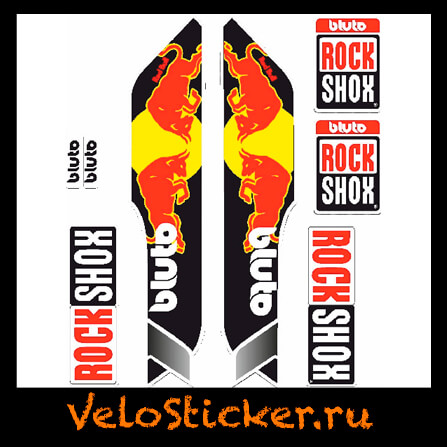 Наклейка на вилку Rock Shox Bluto 2014 - Red bull