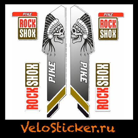 Наклейка на вилку Rock Shox Pike 2013