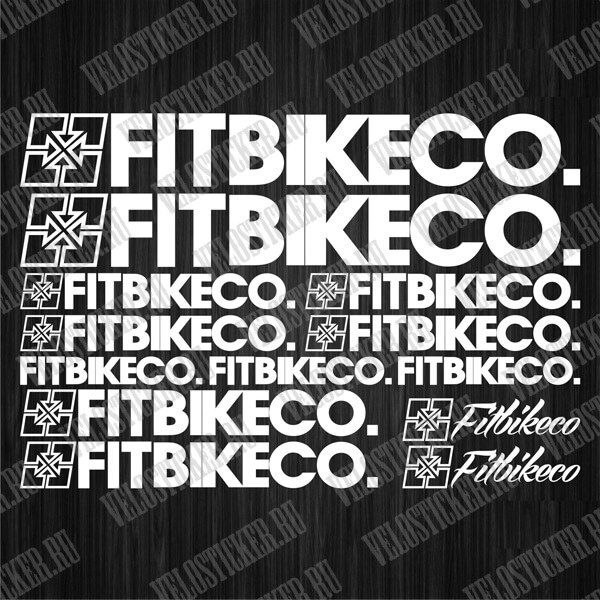 Наклейки и стикеры на велосипед FIT BIKECO